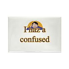 I Haz A Confused Rectangle Magnet