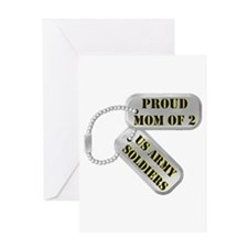 Proud Mom of 2 US Army Soldiers Greeting Card