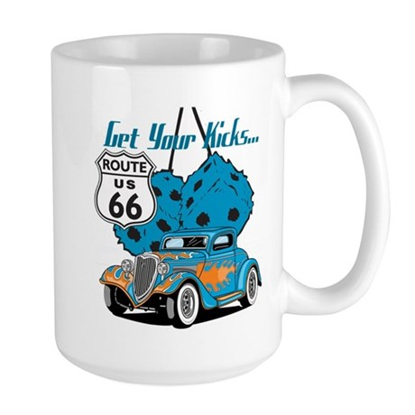 Dice Rt 66 Hot Rod Large Mug
