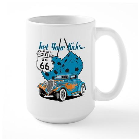 Dice Rt 66 Hot Rod Large Mug