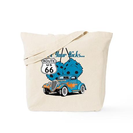 Dice Rt 66 Hot Rod Tote Bag