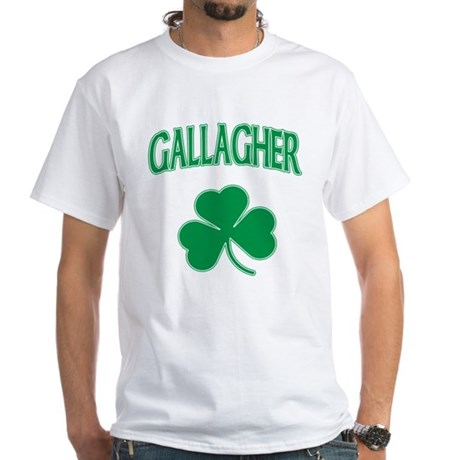 Gallagher Irish White T-Shirt