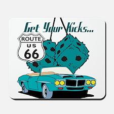 Blue Dice Route 66 Mousepad