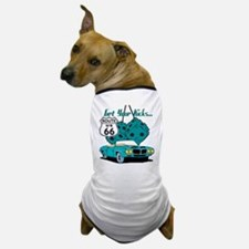Blue Dice Route 66 Dog T-Shirt