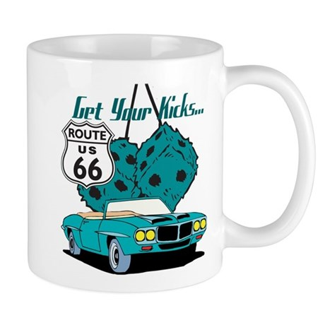 Blue Dice Route 66 Mug
