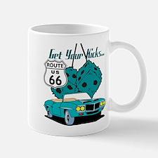 Blue Dice Route 66 Mug