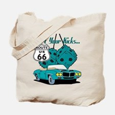 Blue Dice Route 66 Tote Bag