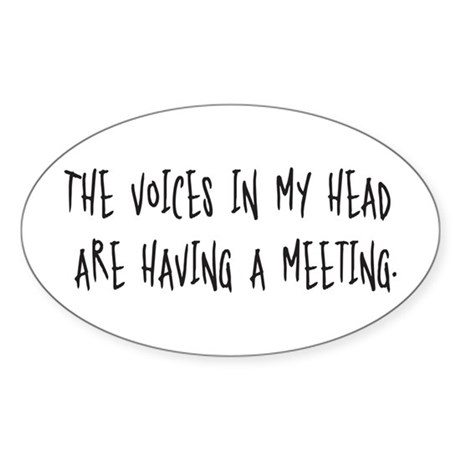 Voices Meeting Oval Sticker