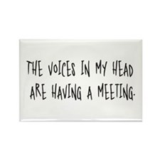 Voices Meeting Rectangle Magnet