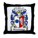 Rosenvinge Coat of Arms Throw Pillow