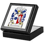 Rosenvinge Coat of Arms Keepsake Box