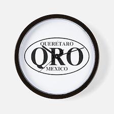 QRO Queretaro Wall Clock