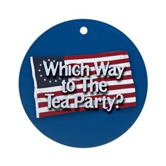 Which Way to The Tea Party? Ornament (Round)