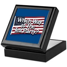 Which Way to The Tea Party? Keepsake Box