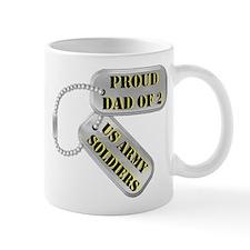 Dad Dog Tags Mugs