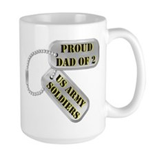 Dad Dog Tags Mugs
