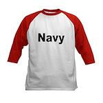 Navy (Front) Kids Baseball Jersey