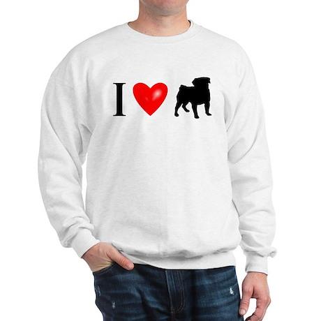 I LUV Pug Sweatshirt