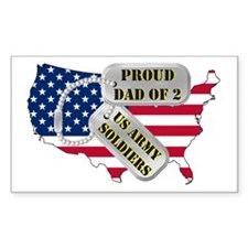 Proud Dad of 2 US Army Soldiers Decal