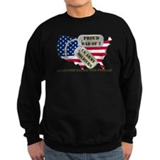Proud Dad of 2 US Army Soldiers Sweatshirt