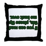 Flip Me Back Over! Throw Pillow