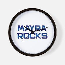 mayra rocks Wall Clock