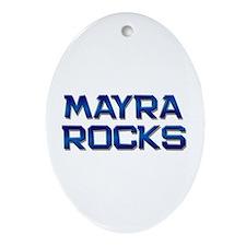 mayra rocks Oval Ornament