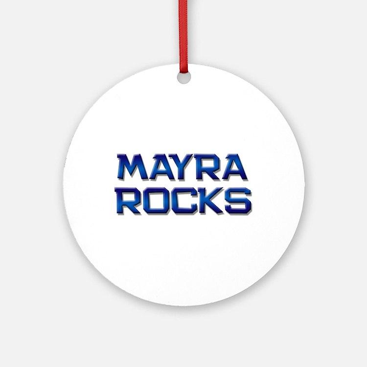 mayra rocks Ornament (Round)