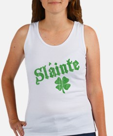 Slainte with Four Leaf Clover Women's Tank Top