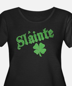 Slainte with Four Leaf Clover T