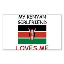My Kenyan Girlfriend Loves Me Rectangle Decal