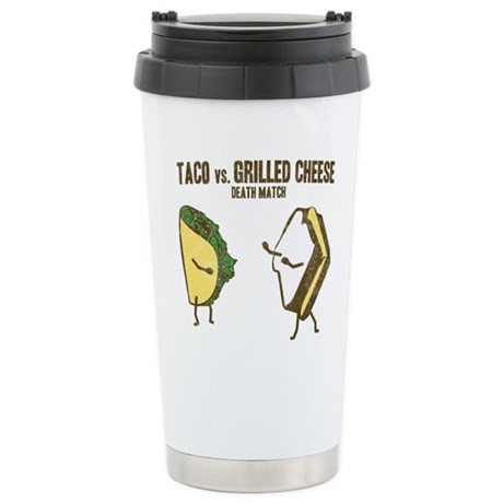 Taco VS Grilled Cheese Stainless Steel Travel Mug