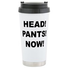 HEAD! PANTS! NOW! Ceramic Travel Mug