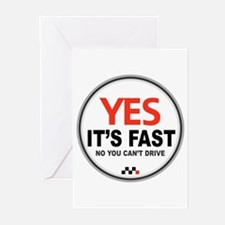 Yes It's Fast Greeting Cards (Pk of 10)