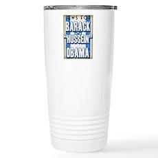 Jews For Barack Obama Stainless Steel Travel Mug