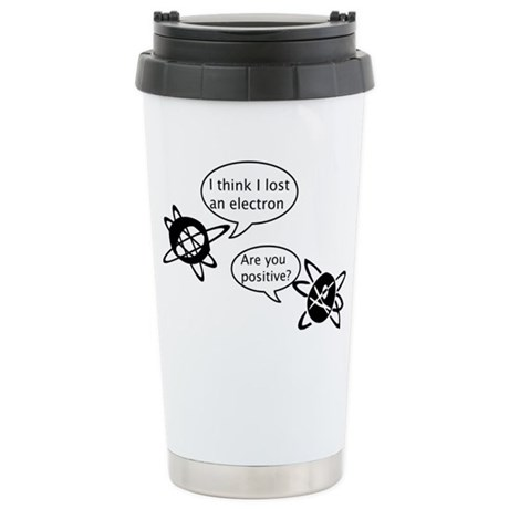 Atoms & Electrons Stainless Steel Travel Mug