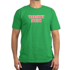 Varsity Math Men's Fitted T-Shirt (dark)