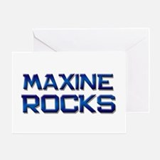 maxine rocks Greeting Card