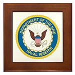 Naval Reserve Framed Tile