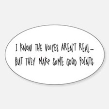 Voices make good points Oval Decal