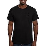 GLBT Black Pocket Pop Men's Fitted T-Shirt (dark)