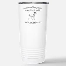 Dalmatian Pawprints Travel Mug