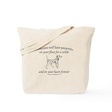 Dalmatian Pawprints Tote Bag