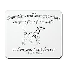 Dalmatian Pawprints Mousepad