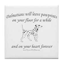 Dalmatian Pawprints Tile Coaster