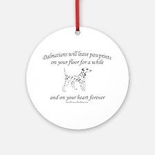 Dalmatian Pawprints Ornament (Round)