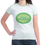 Proud Irishwoman Jr. Ringer T-Shirt