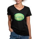 Proud Irishwoman Women's V-Neck Dark T-Shirt