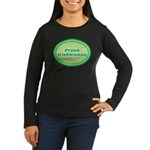Proud Irishwoman Women's Long Sleeve Dark T-Shirt