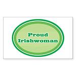 Proud Irishwoman Rectangle Sticker